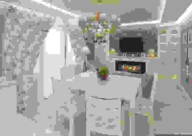 Коттедж 150 кв.м. в Энгельсе, Волжский проспект Столовая комната в стиле модерн от hq-design Модерн