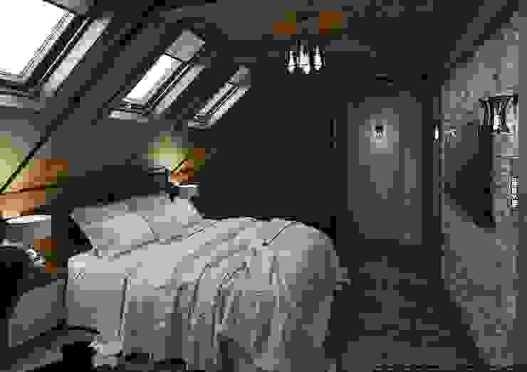 Коттедж 150 кв.м. в Энгельсе, Волжский проспект Спальня в стиле модерн от hq-design Модерн