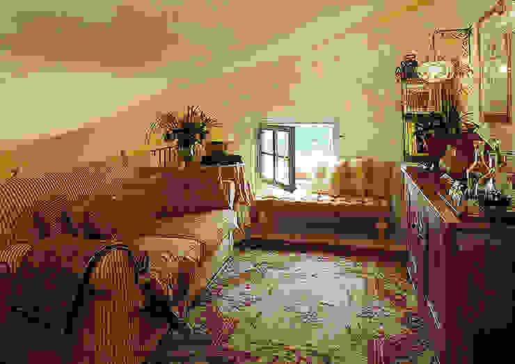 Гостиная в стиле кантри от Anna Paghera s.r.l. - Interior Design Кантри
