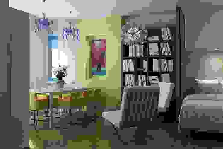 The project is a one-room apartment. Гостиная в классическом стиле от Design studio of Stanislav Orekhov. ARCHITECTURE / INTERIOR DESIGN / VISUALIZATION. Классический