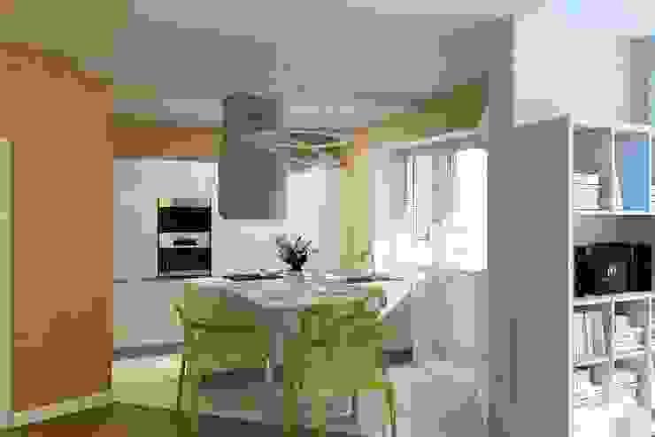 The project is a one-room apartment. Кухня в классическом стиле от Design studio of Stanislav Orekhov. ARCHITECTURE / INTERIOR DESIGN / VISUALIZATION. Классический