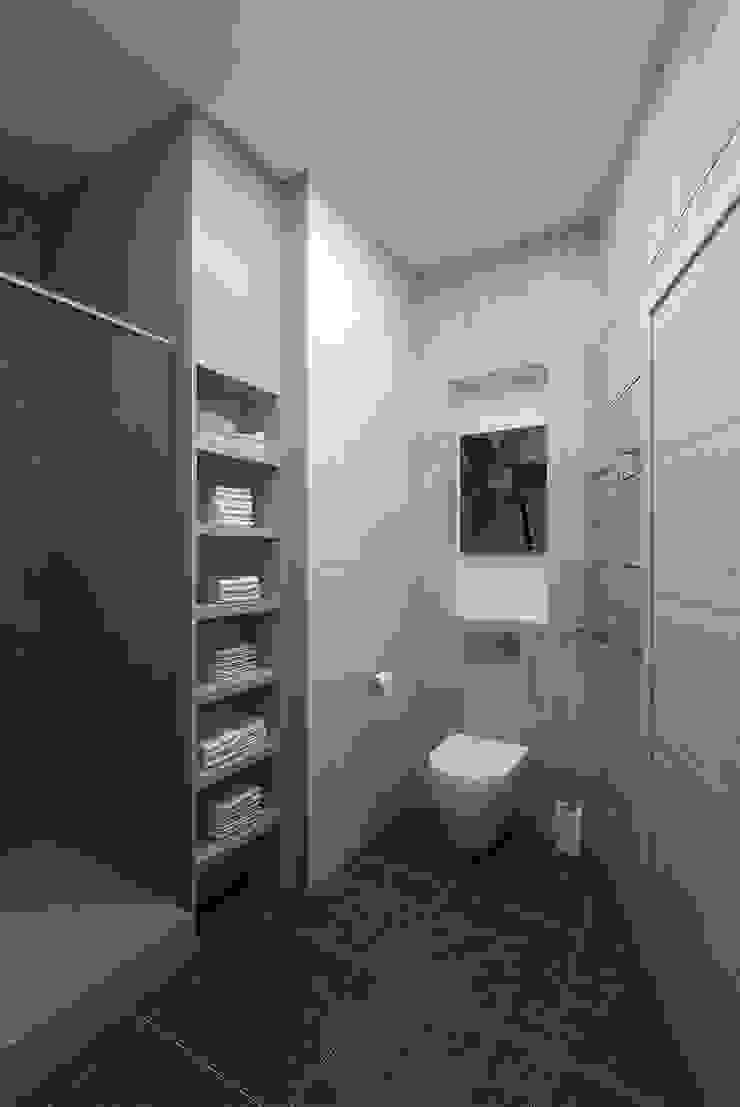 The project is a one-room apartment. Ванная в классическом стиле от Design studio of Stanislav Orekhov. ARCHITECTURE / INTERIOR DESIGN / VISUALIZATION. Классический