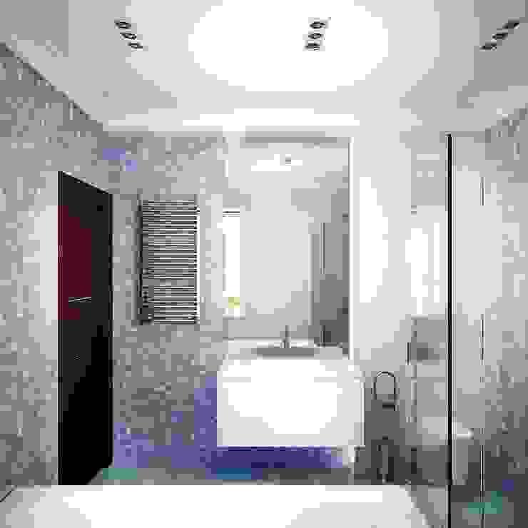 """Дом в поселке """"Бавария CLUB"""" Ванная комната в эклектичном стиле от ООО 'Студио-ТА' Эклектичный"""