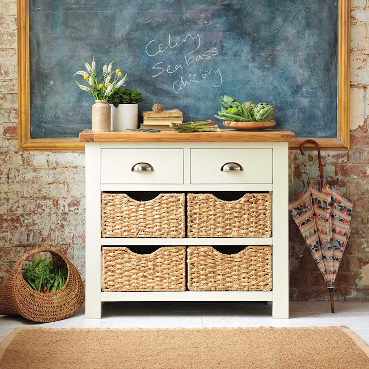 Oxford Painted Console Table von The Cotswold Company Landhaus Holz Holznachbildung