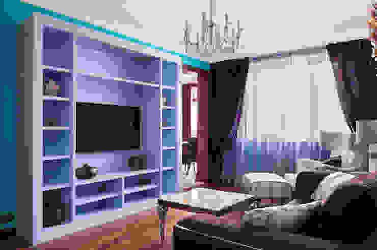 Квартира в Москве 106 кв. м. Гостиные в эклектичном стиле от MM-STUDIO Эклектичный