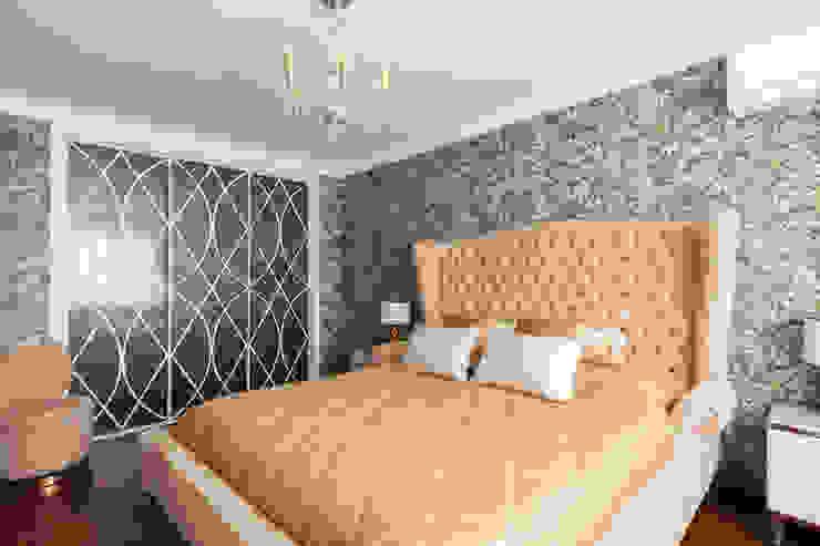 Квартира в Москве 106 кв. м. Спальня в эклектичном стиле от MM-STUDIO Эклектичный