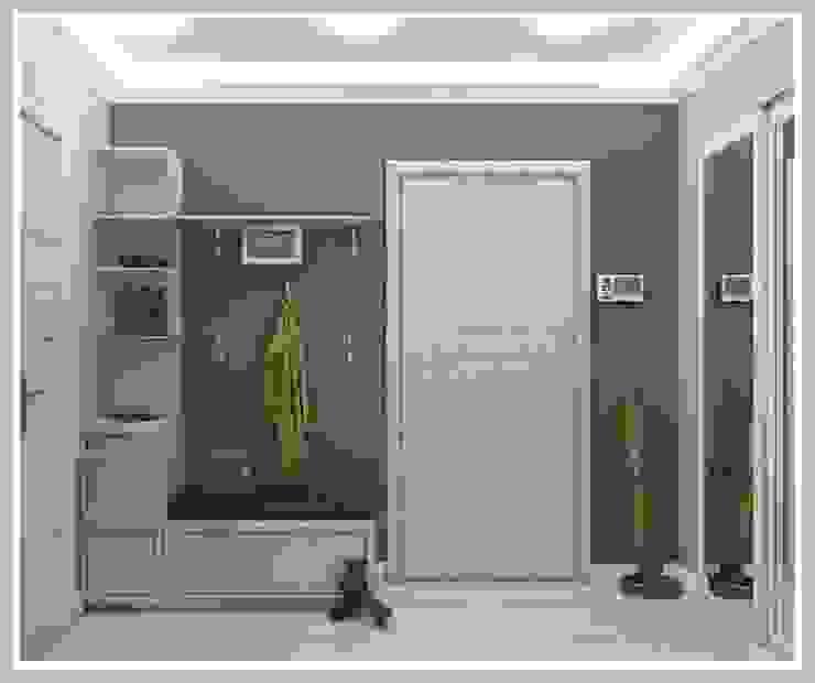 Прихожая Вид 1 Коридор, прихожая и лестница в стиле минимализм от Рязанова Галина Минимализм