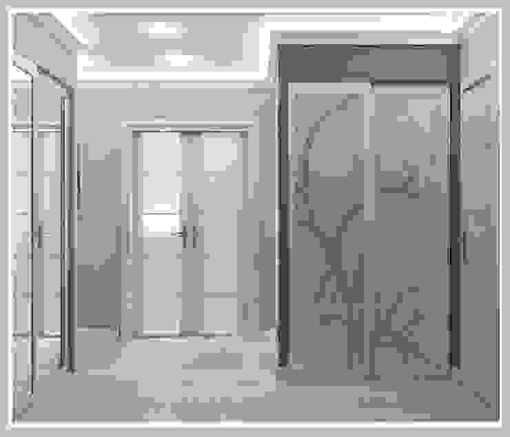 Прихожая Вид 2 Коридор, прихожая и лестница в стиле минимализм от Рязанова Галина Минимализм