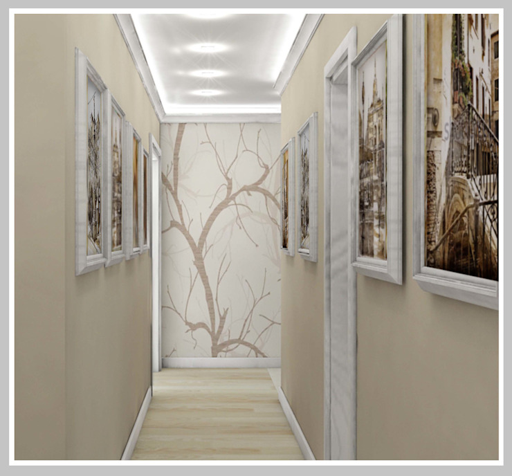 Прихожая-Холл Вид 3 Коридор, прихожая и лестница в стиле минимализм от Рязанова Галина Минимализм