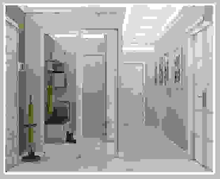 Квартира для молодой семьи Коридор, прихожая и лестница в стиле минимализм от Рязанова Галина Минимализм