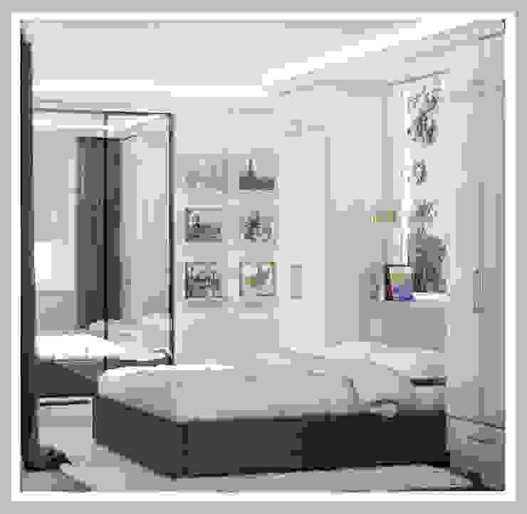 Спальня Вид 1 Спальня в стиле минимализм от Рязанова Галина Минимализм