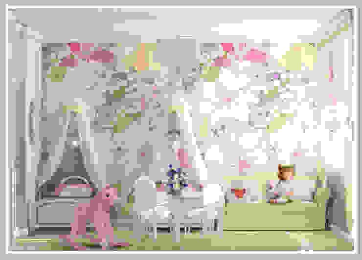 Детская для девочек близнецов Вид 1 Детская комнатa в стиле минимализм от Рязанова Галина Минимализм