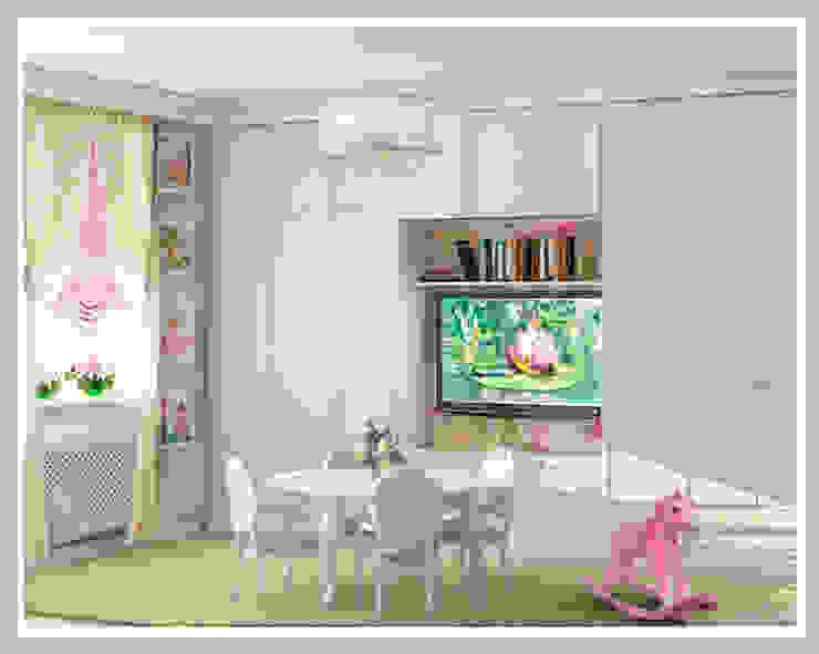Детская для девочек близнецов Вид 2 Детская комнатa в стиле минимализм от Рязанова Галина Минимализм