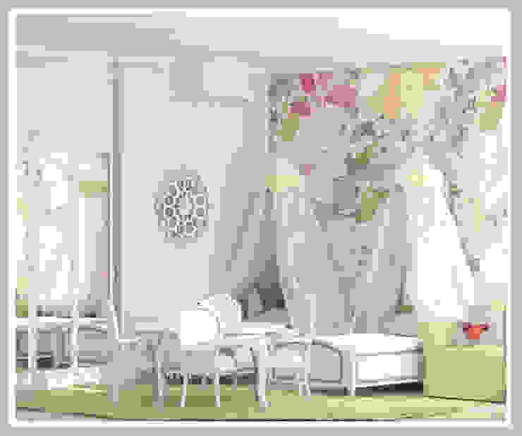Детская для девочек близнецов Вид 4 Детская комнатa в стиле минимализм от Рязанова Галина Минимализм