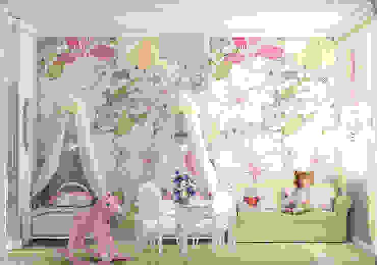 Projekty,  Pokój dziecięcy zaprojektowane przez Рязанова Галина, Minimalistyczny
