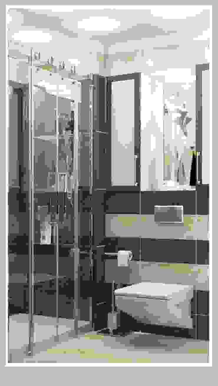 Санузел малый вид 1 Ванная комната в стиле минимализм от Рязанова Галина Минимализм