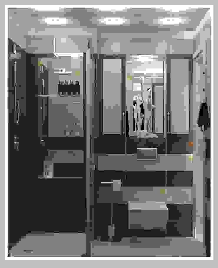 Санузел малый вид 2 Ванная комната в стиле минимализм от Рязанова Галина Минимализм