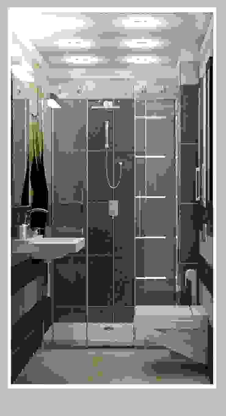 Санузел малый вид 3 Ванная комната в стиле минимализм от Рязанова Галина Минимализм