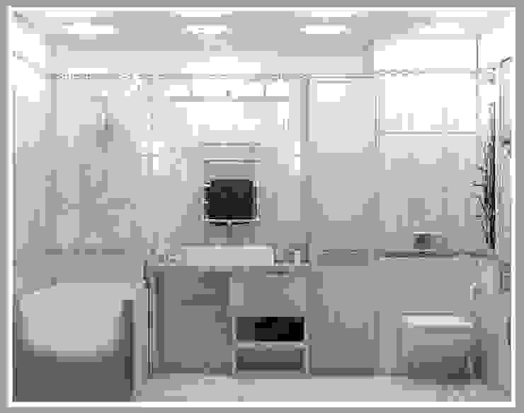 Санузел большой вид 2 Ванная комната в стиле минимализм от Рязанова Галина Минимализм