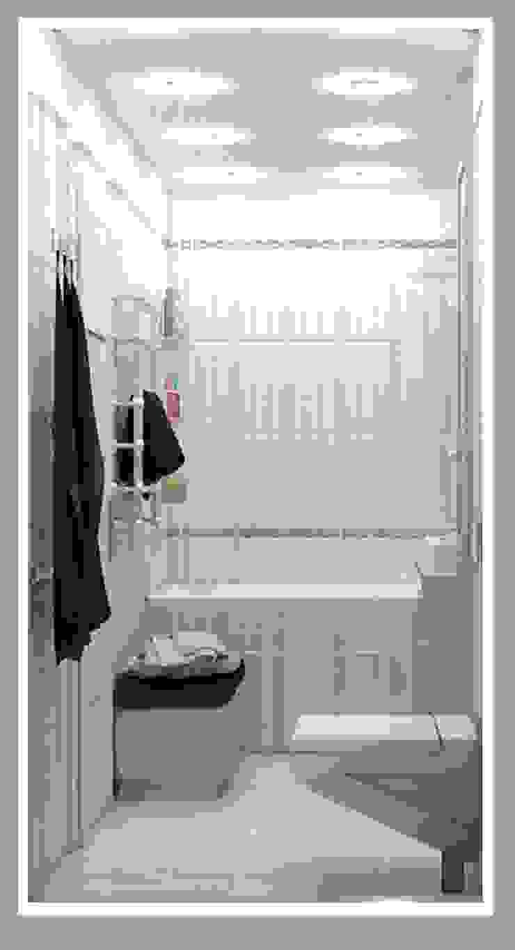 Санузел большой вид 3 Ванная комната в стиле минимализм от Рязанова Галина Минимализм