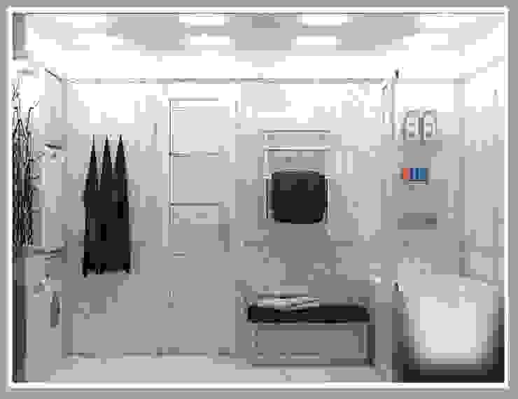 Санузел большой вид 4 Ванная комната в стиле минимализм от Рязанова Галина Минимализм
