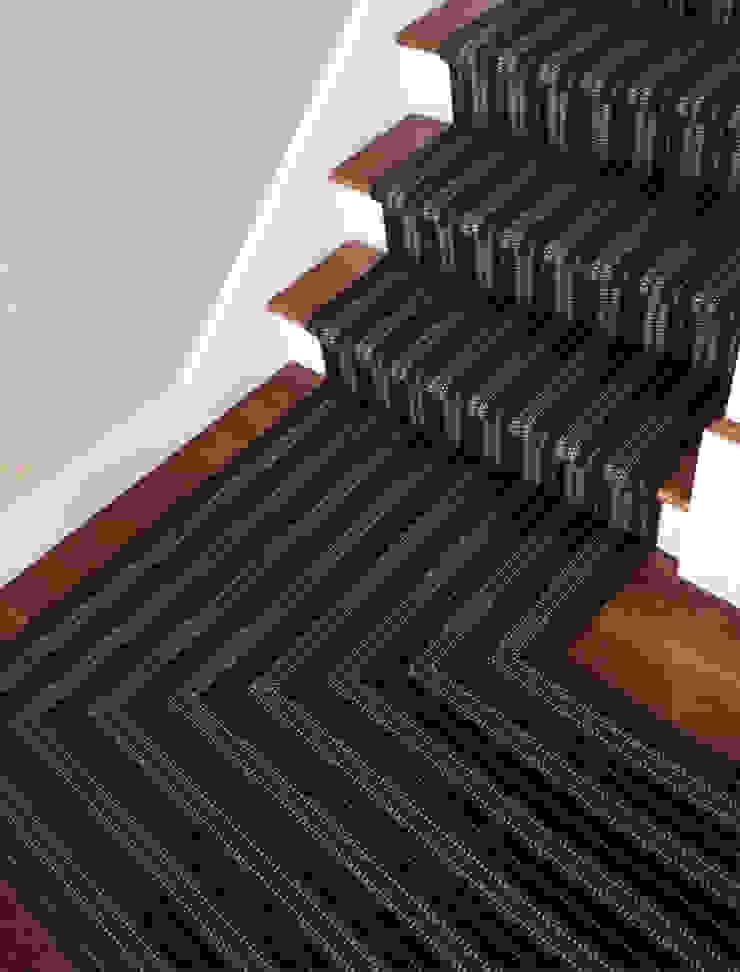 Brompton 1 Stair Runner Fleetwood Fox Ltd Classic style corridor, hallway and stairs Black
