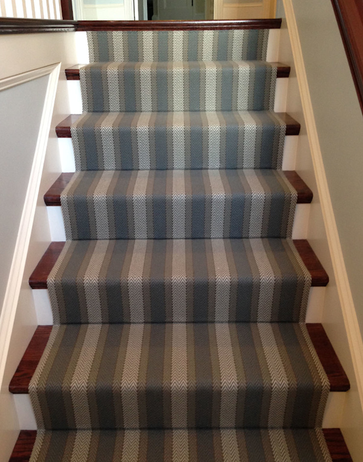 Lytton 5 Stair Runner Fleetwood Fox Ltd Classic style corridor, hallway and stairs Blue