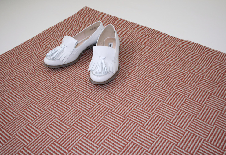 Quadrant Rug Fleetwood Fox Ltd Walls & flooringCarpets & rugs Wool Red
