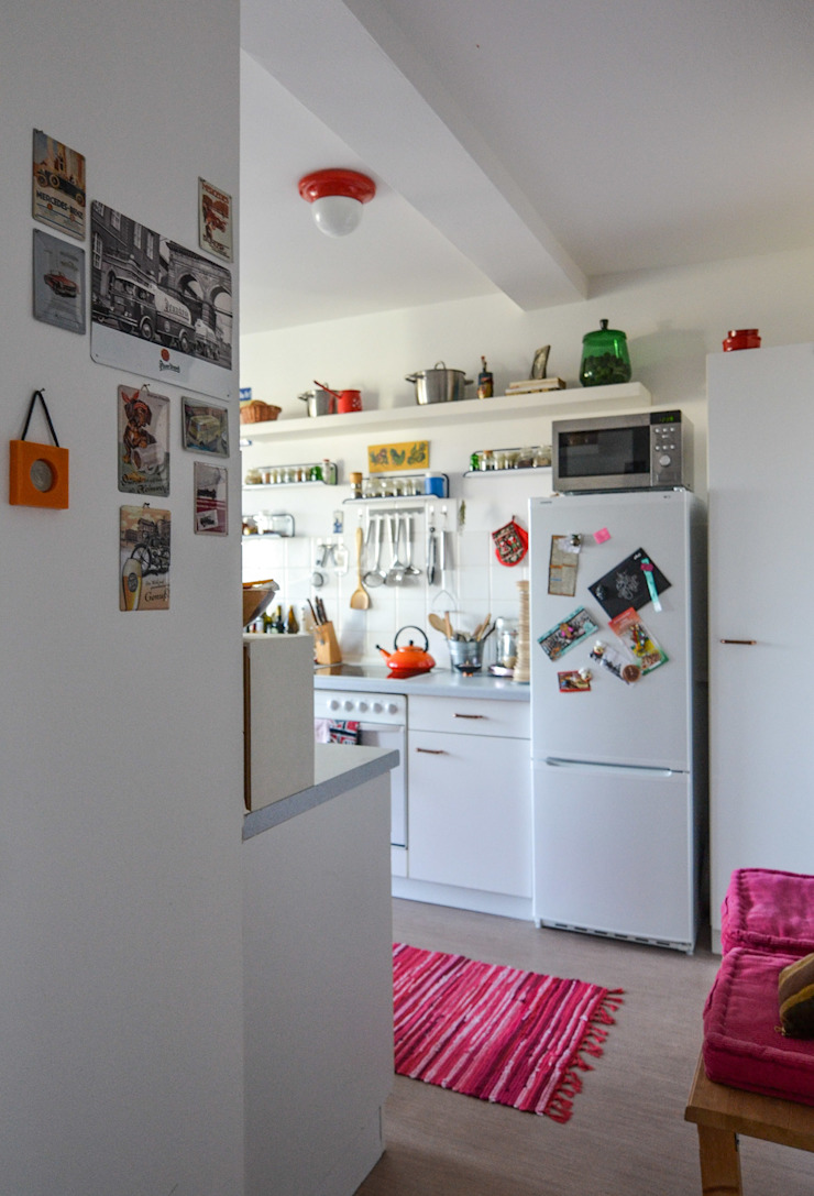 Eklektyczna kuchnia od Mighty Vintage Eklektyczny