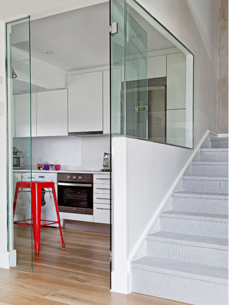 BELEN FERRANDIZ INTERIOR DESIGN Modern Corridor, Hallway and Staircase
