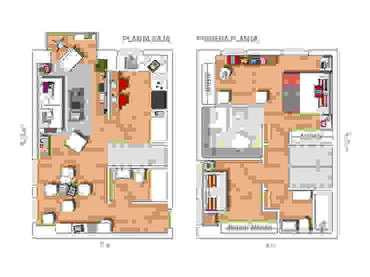 LOFT IN MADRID 2013 Casas de estilo moderno de BELEN FERRANDIZ INTERIOR DESIGN Moderno