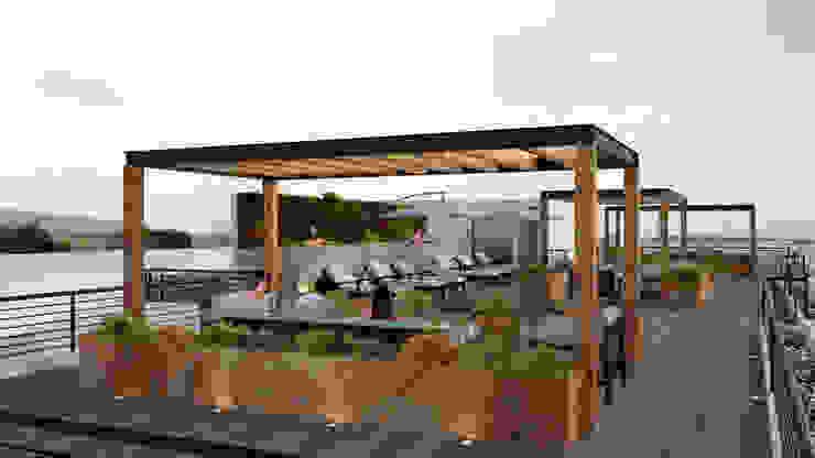 Modern garden by OK ARQUITECTURA Modern