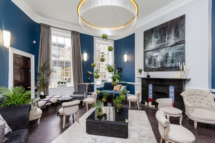 Chic Living Room homify Eclectic style living room Blue