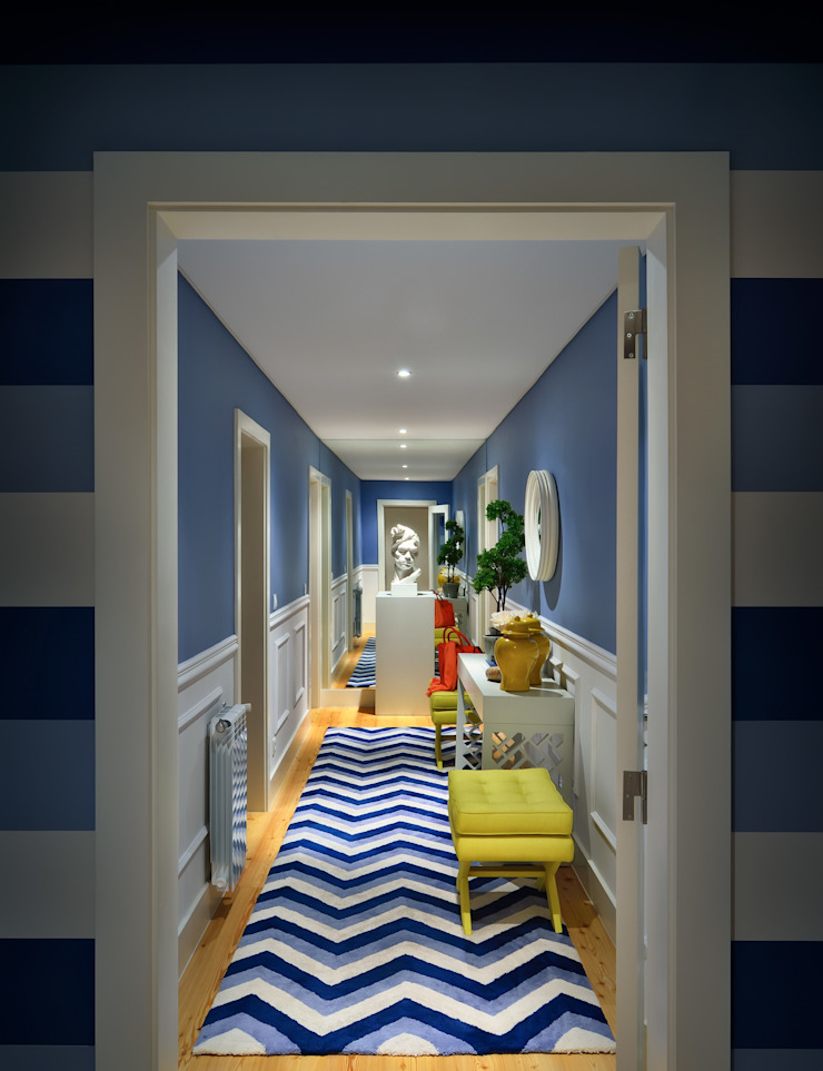 Prego Sem Estopa by Ana Cordeiro Ingresso, Corridoio & Scale in stile moderno