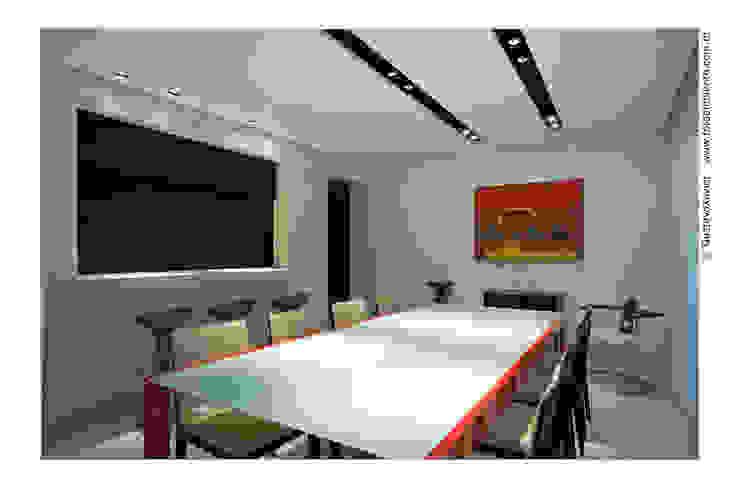 APTO BELVEDERE Salas de jantar modernas por Cassio Gontijo Arquitetura e Decoração Moderno Granito