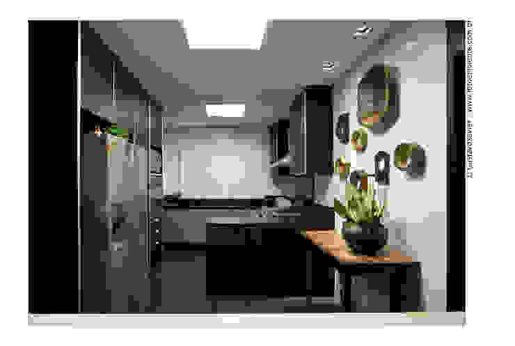 APTO BELVEDERE Cozinhas modernas por Cassio Gontijo Arquitetura e Decoração Moderno MDF