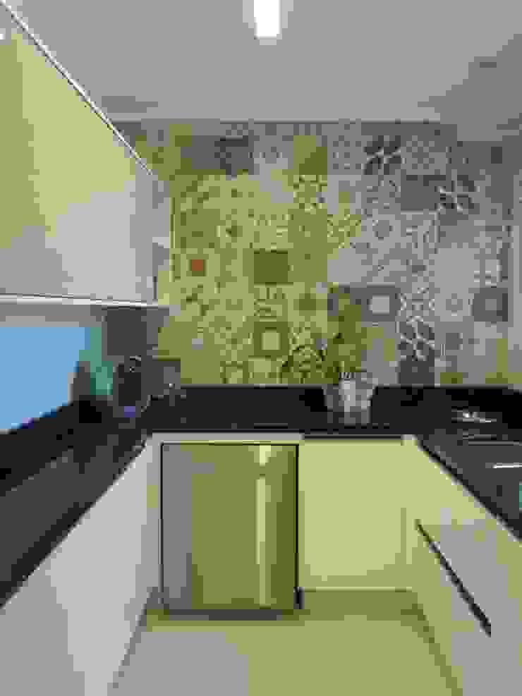 Nhà bếp phong cách chiết trung bởi Flávia Brandão - arquitetura, interiores e obras Chiết trung gốm sứ
