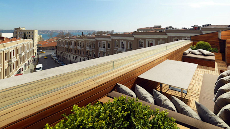 ROMANO DİZAYN – W HOTEL AKARETLER: modern tarz , Modern Pamuklu Kırmızı