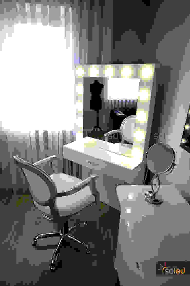 Stanowisko fryzjerskie - Hollywood Make Up - Soleda Mirror od SOLED Projekty i Dekoracje Świetlne Jacek Solka Nowoczesny