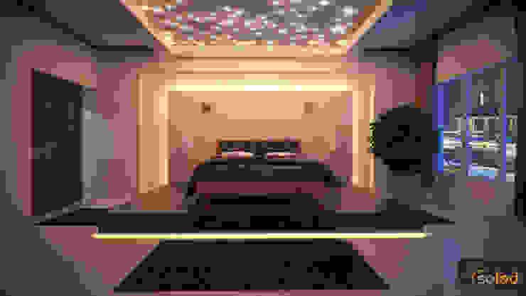 Gwieździste niebo - Starry Sky: styl , w kategorii Sypialnia zaprojektowany przez SOLED Projekty i Dekoracje Świetlne Jacek Solka,