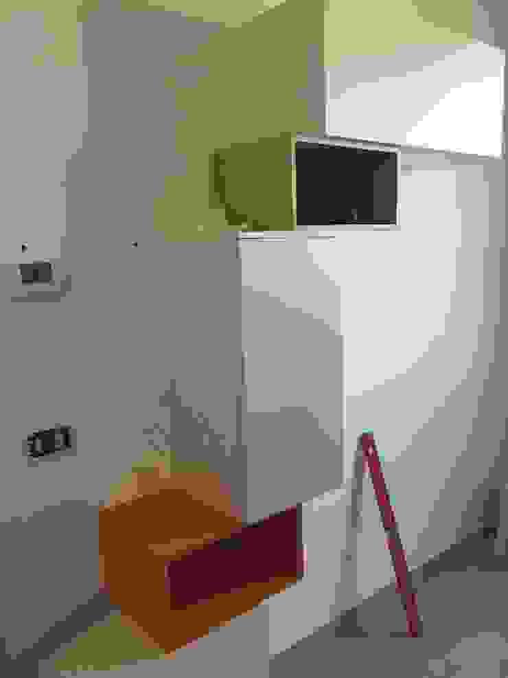 work in progress soggiorno in openspace Soggiorno moderno di Arreda Progetta di Alice Bambini Moderno