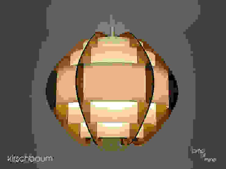 lom1 - Hängelampe Kirschbaum von lamp of mine Skandinavisch Holz-Kunststoff-Verbund