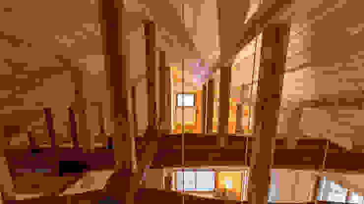 H26日本漆喰協会作品賞:受賞した家 オリジナルデザインの リビング の 株式会社粋の家 オリジナル