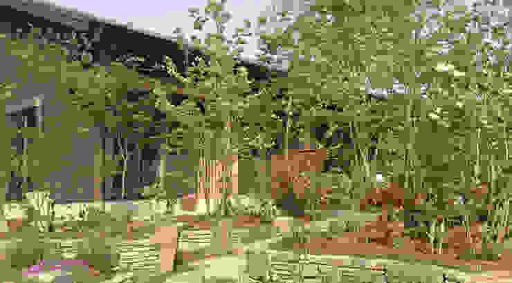 日向石を使った庭を使った庭 株式会社粋の家 オリジナルな 庭