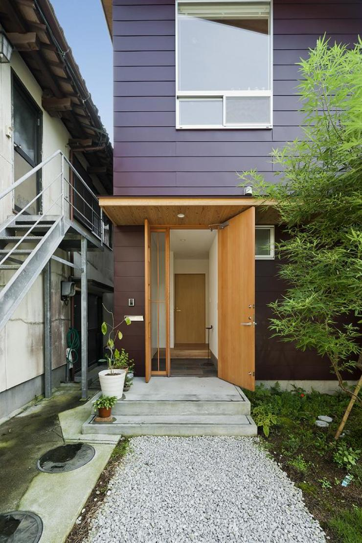 facade Eclectic style houses by キリコ設計事務所 Eclectic