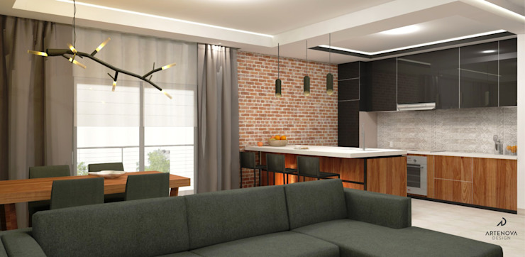 Cucina moderna di Artenova Design Moderno