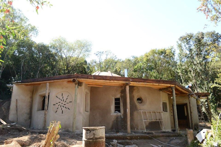 Casas de estilo  por Ecohacer Bioarquitectura y Bioconstrucción, Rural Ratán/Mimbre Turquesa