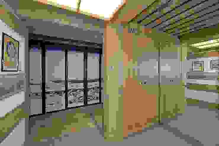 VITTORIO GARATTI ARCHITETTO Moderner Flur, Diele & Treppenhaus Holz