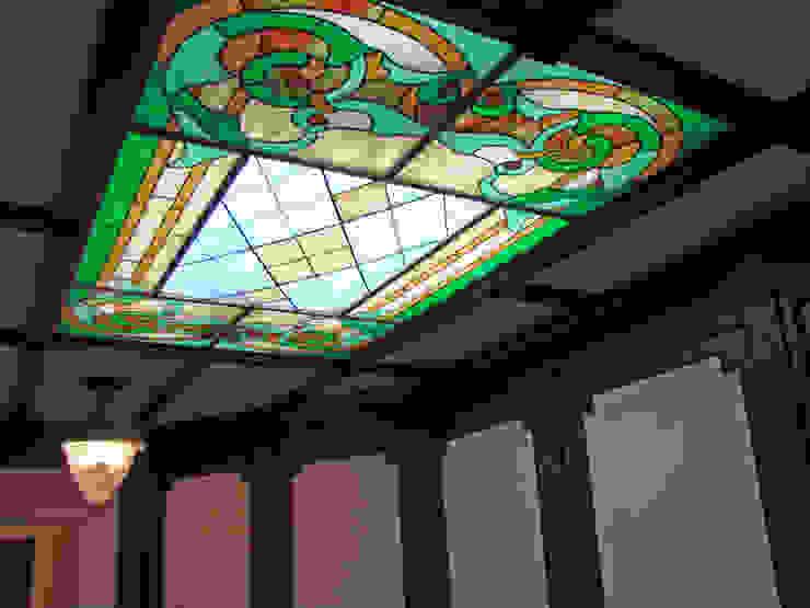 витраж на потолке кабинета Рабочий кабинет в классическом стиле от Золотой Век Классический
