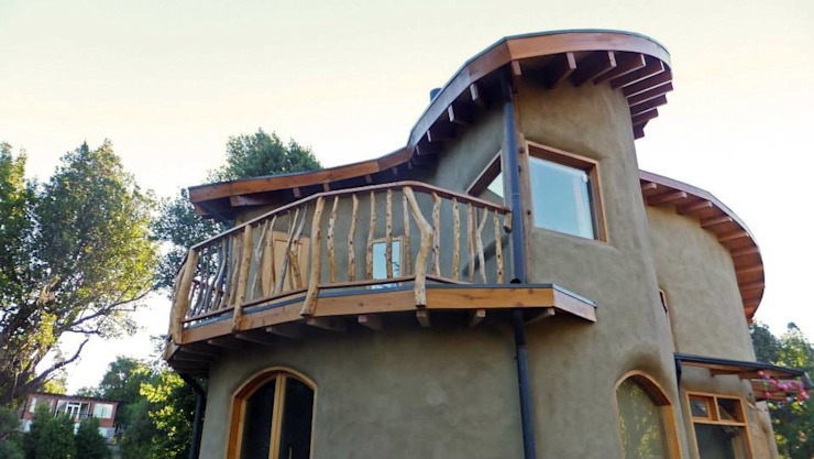 Casas de estilo  por Ecohacer Bioarquitectura y Bioconstrucción